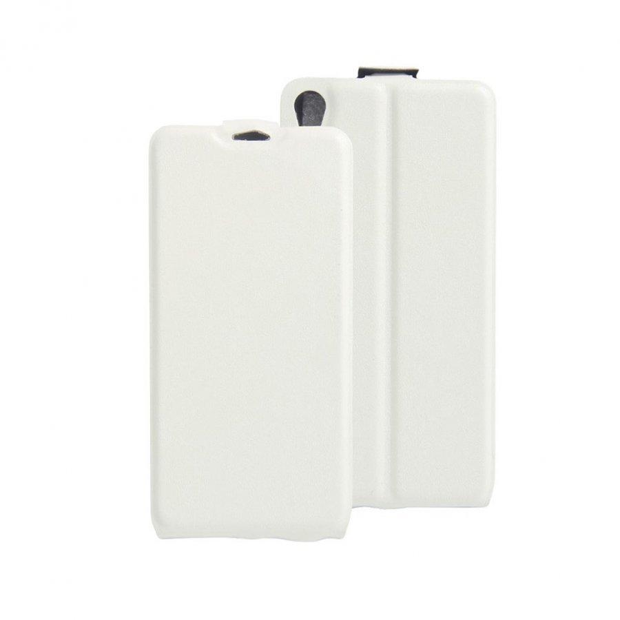 Amdrup Sony Xperia E5 Pystysuora Nahkakotelo Läpällä Valkoinen