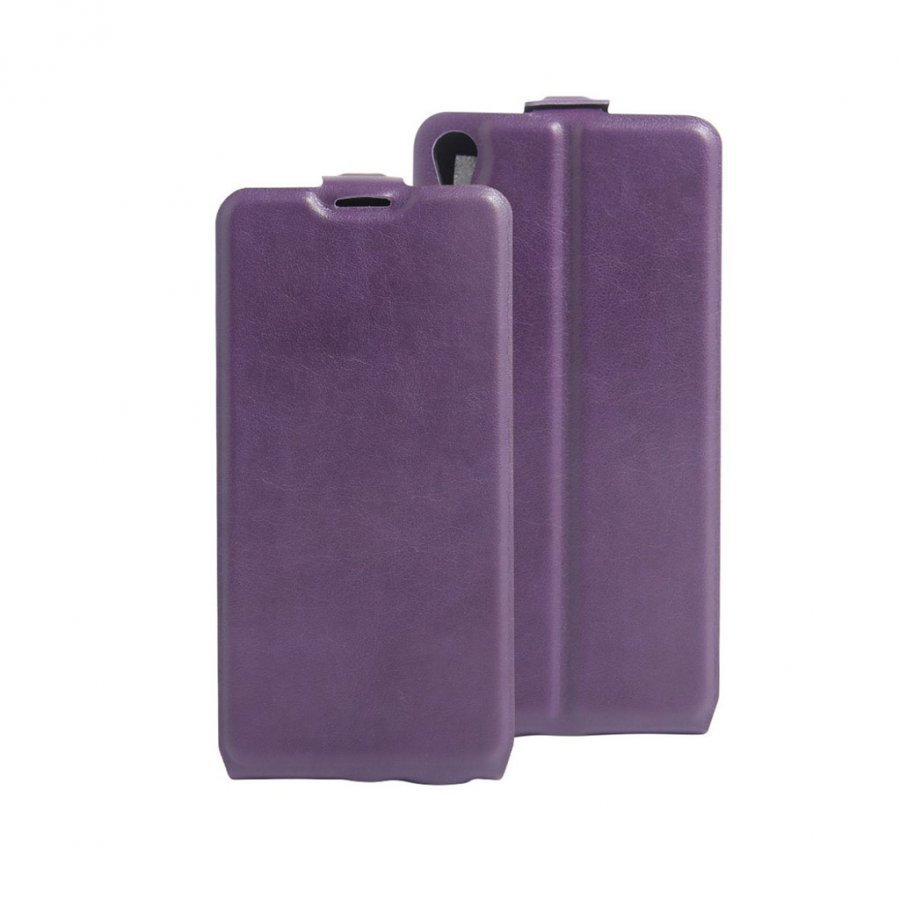 Amdrup Sony Xperia E5 Pystysuora Nahkakotelo Läpällä Violetti
