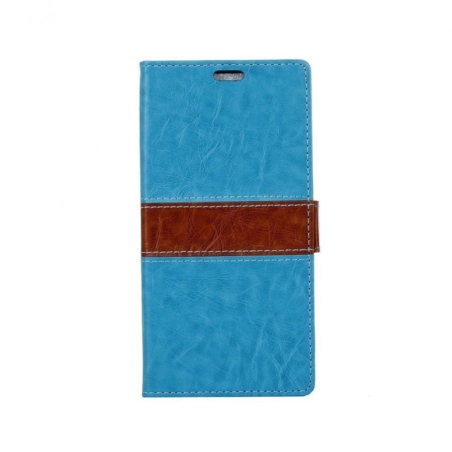 Amdrup Suojaava Nahkakotelo Lompakko Standillä Huawei P9 Puhelimelle Sininen