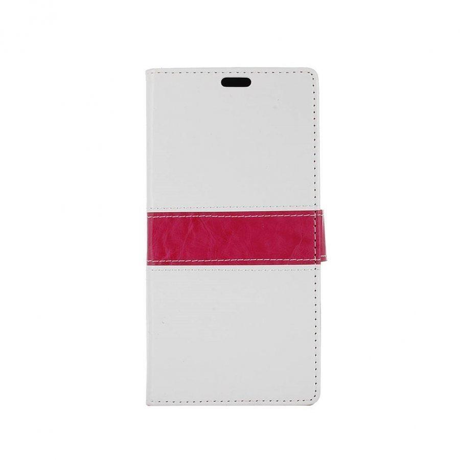 Amdrup Suojaava Nahkakotelo Lompakko Standillä Huawei P9 Puhelimelle Valkoinen