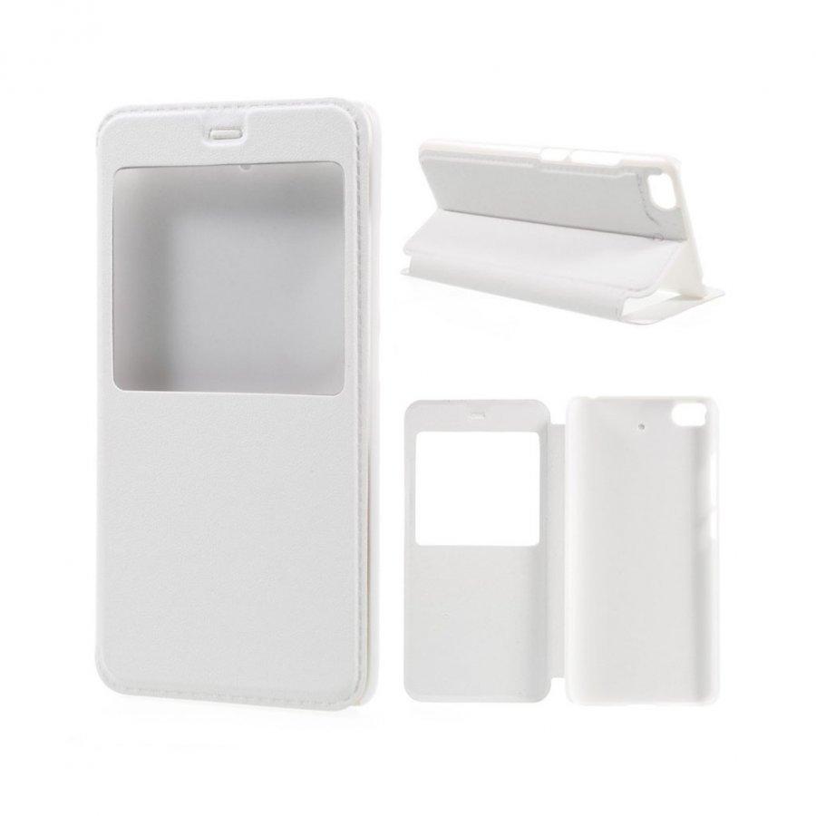 Amdrup Xiaomi Mi 5s Nahkakotelo Ikkunalla Ja Läpällä Valkoinen