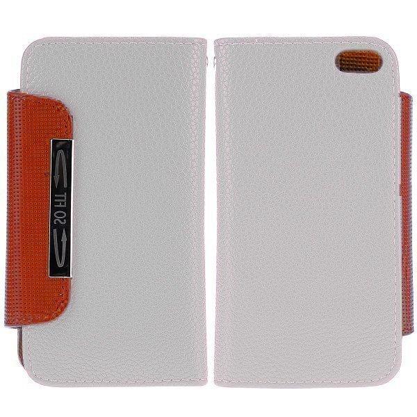 Amecs Iphone 5 Nahkakotelo Korttipaikalla Valkoinen