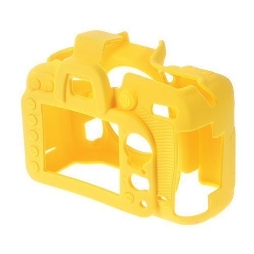 Ammattimainen Silikoni Kumi Kotelo Nikon D7100 D7200 Kameralle Keltainen
