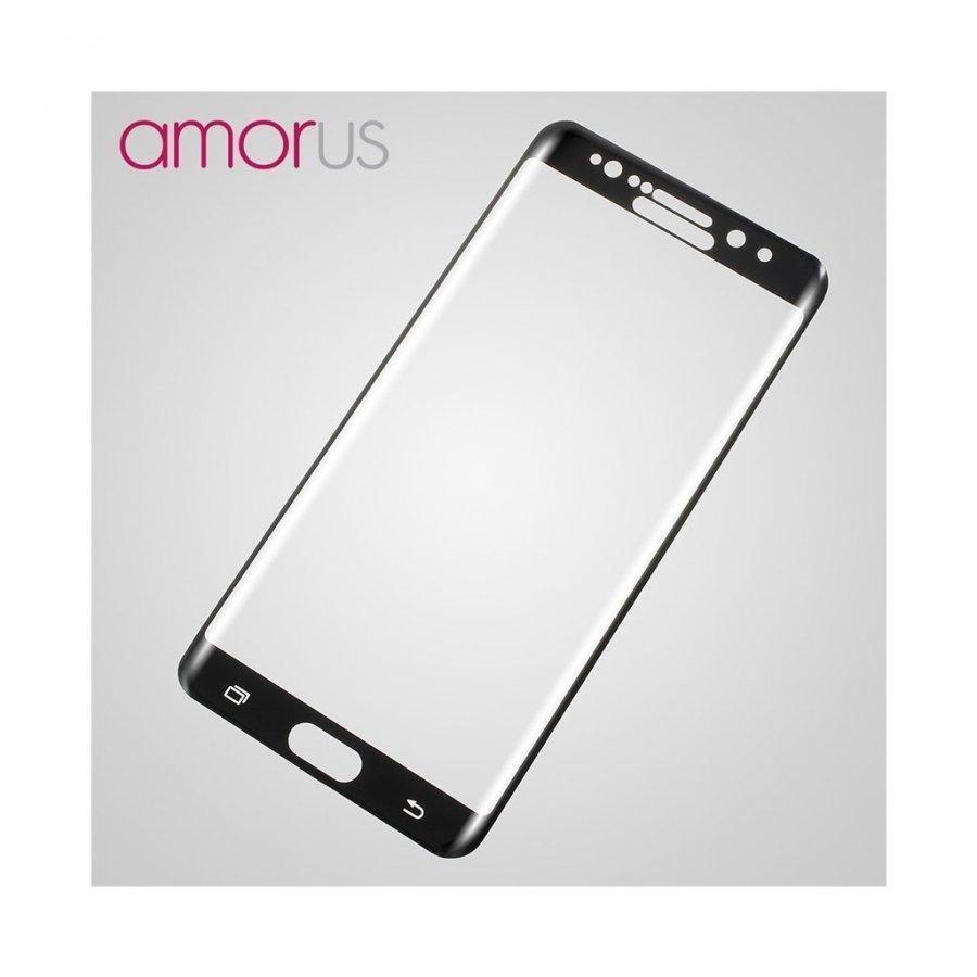 Amo Samsung Galaxy Note7 Kaareva Näytönsuoja Musta