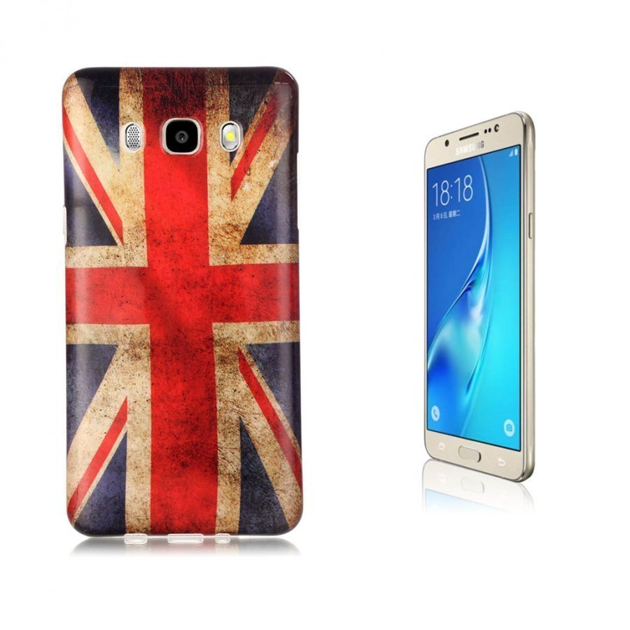 Ancher Imd Samsung Galaxy J5 2016 Joustava Kuori Retro Britannian Lippu