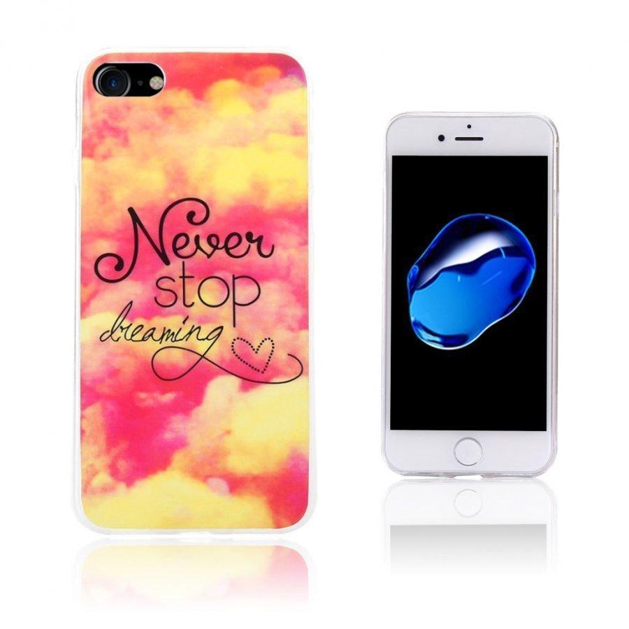 Ancher Iphone 7 Joustava Geelikuori Kuvalla Pilvi Ja Älä Lakkaa Unelmoimasta