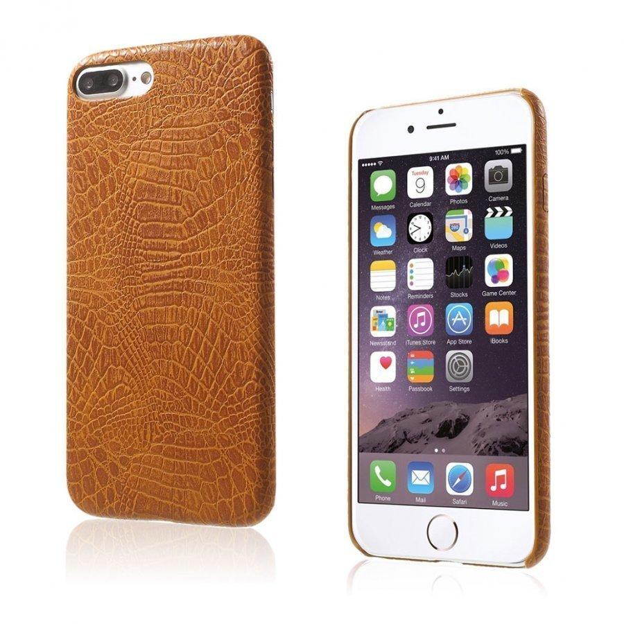 Ancher Iphone 7 Plus Krokotiilinnahka Pintainen Kuori Ruskea