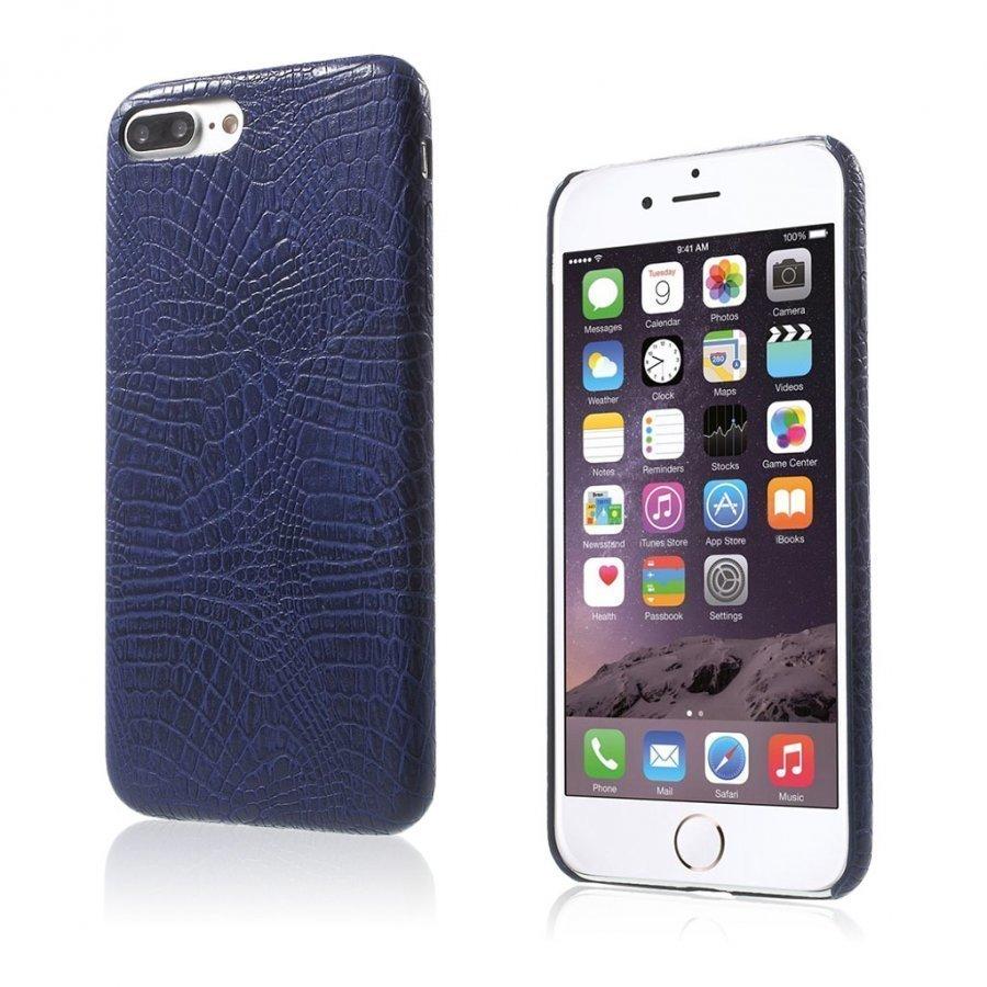 Ancher Iphone 7 Plus Krokotiilinnahka Pintainen Kuori Sininen