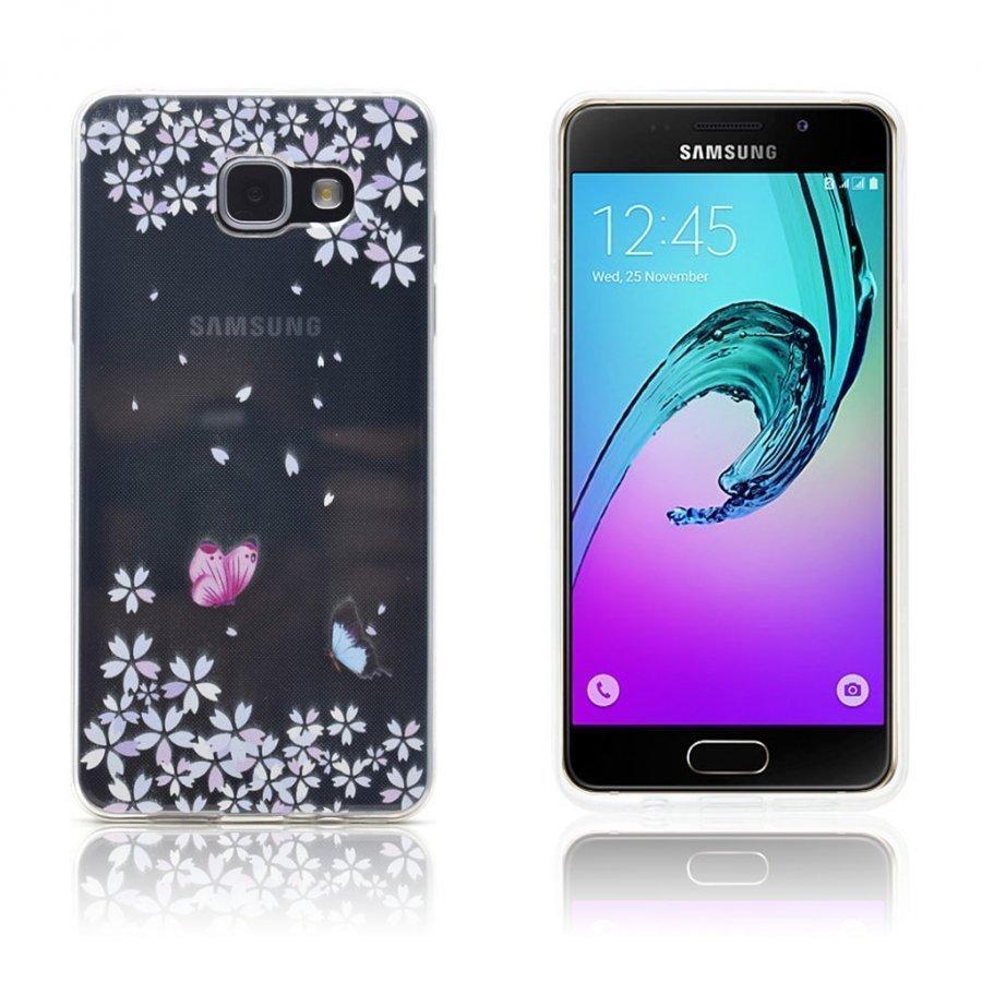 Ancher Samsung Galaxy A3 2016 Kuori Perhosia Ja Kukkia