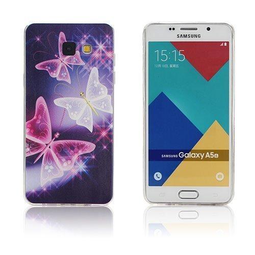 Ancher Samsung Galaxy A5 2016 Silikonikuori Eläväisiä Perhosia