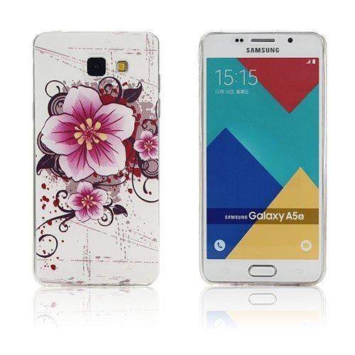 Ancher Samsung Galaxy A5 2016 Silikonikuori Tuoreita Kukkia