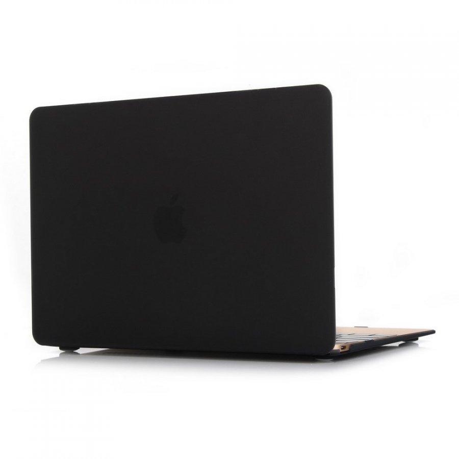 Ancker Macbook 12-Inch 2015 Retina Display Nahkakotelo Korttitaskuilla Matta Musta