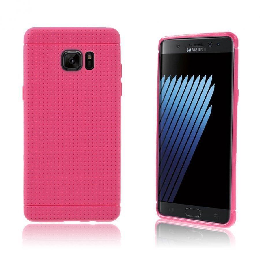 Andersen Samsung Galaxy Note7 Suojaava Joustava Muovikuori Kuuma Pinkki
