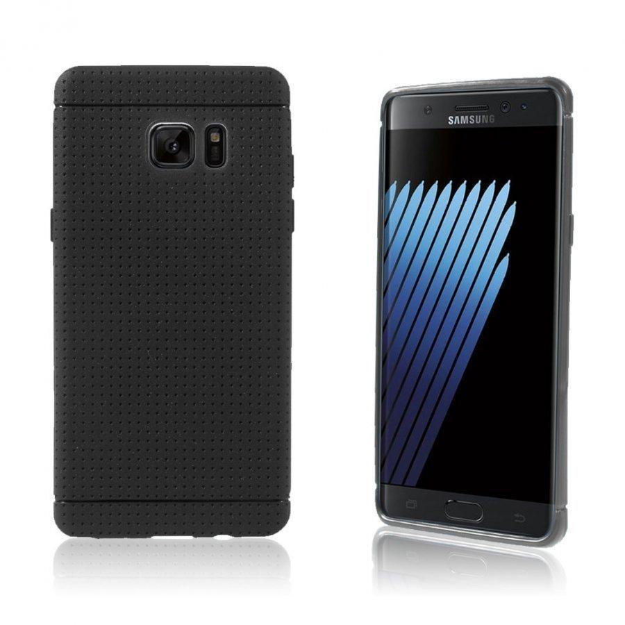Andersen Samsung Galaxy Note7 Suojaava Joustava Muovikuori Musta