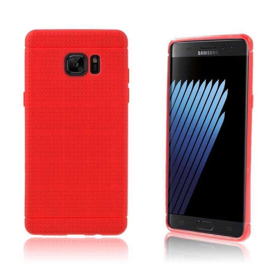 Andersen Samsung Galaxy Note7 Suojaava Joustava Muovikuori Punainen
