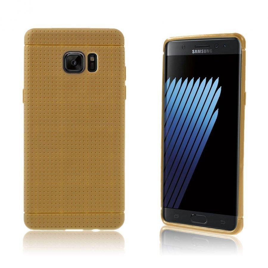 Andersen Samsung Galaxy Note7 Suojaava Joustava Muovikuori Ruskea