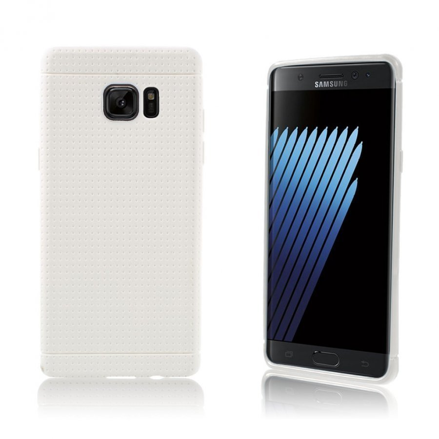 Andersen Samsung Galaxy Note7 Suojaava Joustava Muovikuori Valkoinen