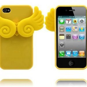 Angel Wings Keltainen Iphone 4 / 4s Silikonikuori