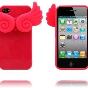 Angel Wings Punainen Iphone 4 / 4s Silikonikuori