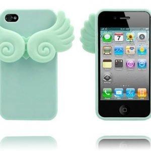 Angel Wings Turkoosi Iphone 4 / 4s Silikonikuori