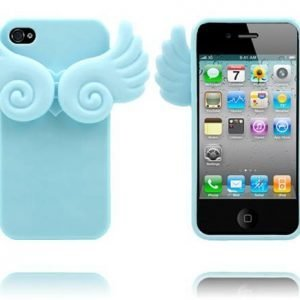 Angel Wings Vaaleansininen Iphone 4 / 4s Silikonikuori