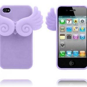 Angel Wings Violetti Iphone 4 / 4s Silikonikuori