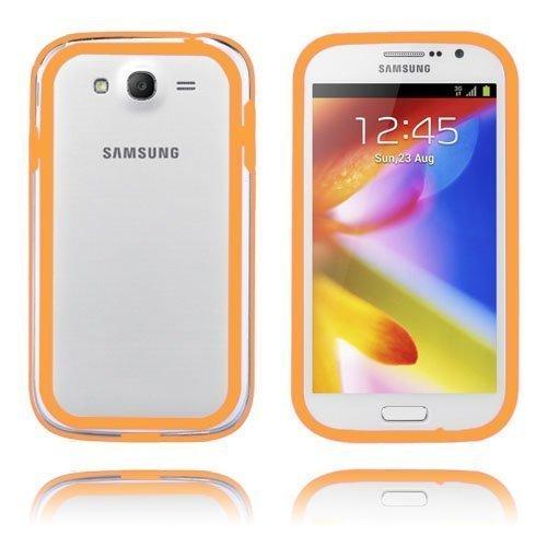 Anti-Shock Oranssi / Läpikuultava Samsung Galaxy Grand Duos Suojakehys