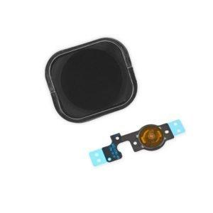 Apple Iphone 5c Kotinäppäin + Flex Kaapeli Musta
