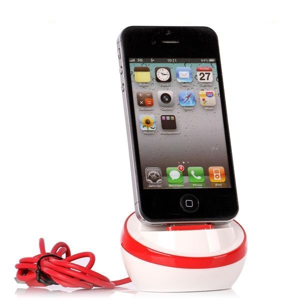 Apple Sphere Telakointiasema Punainen