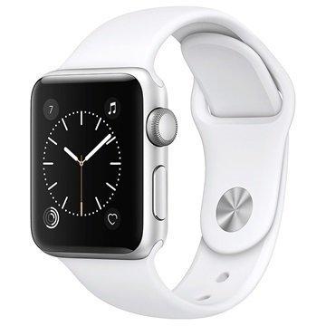Apple Watch 2 MNNW2ZD/A Urheiluranneke 38mm Hopea / Valkoinen