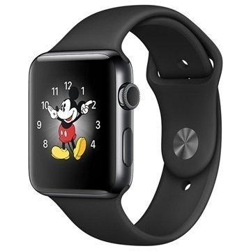Apple Watch 2 MP4A2ZD/A Ruostumaton Teräskuori Urheiluranneke 42mm Avaruusharmaa
