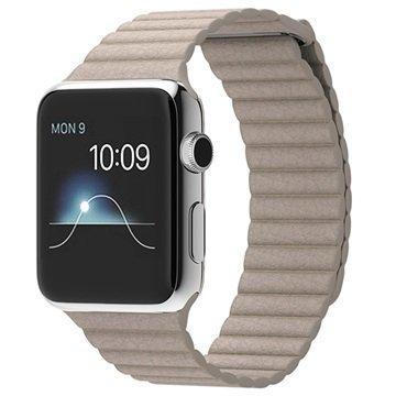 Apple Watch 42mm Kivenharmaa Nahkaranneke