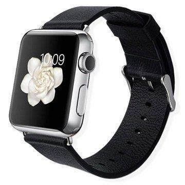 Apple Watch Baseus Nahkainen Ranneke 38mm Musta