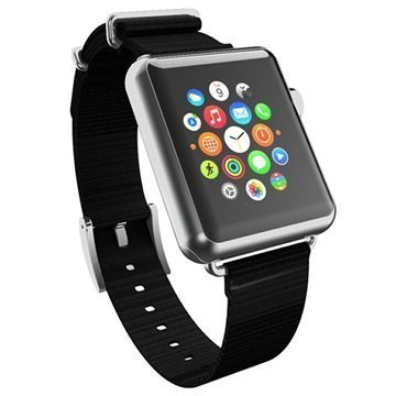 Apple Watch Incipio Nato Style Ranneke 38mm Musta / Hopea