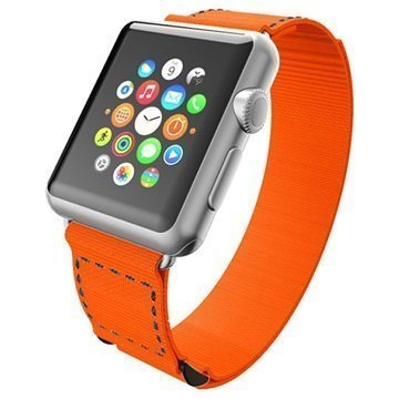 Apple Watch Incipio Stitch Jacquard Ranneke 38mm Oranssi / Harmaa