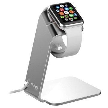 Apple Watch MiTagg NuStand Pöytäteline Hopea