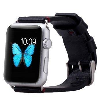 Apple Watch Momax Nahkainen Ranneke 38mm Musta