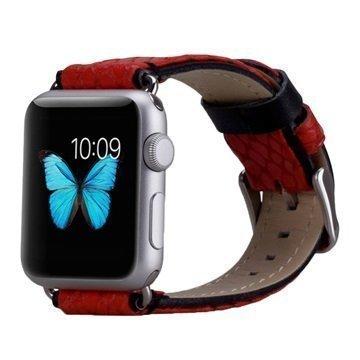 Apple Watch Momax Nahkainen Ranneke 38mm Punainen