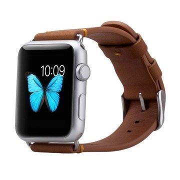 Apple Watch Momax Nahkainen Ranneke 38mm Ruskea