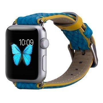 Apple Watch Momax Nahkainen Ranneke 38mm Sininen