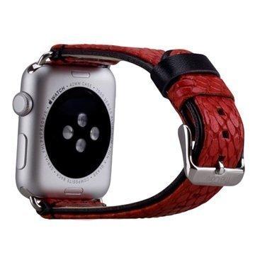 Apple Watch Momax Nahkainen Ranneke 42mm Punainen