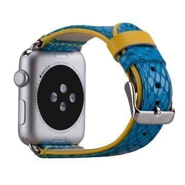 Apple Watch Momax Nahkainen Ranneke 42mm Sininen