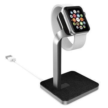 Apple Watch Mophie Kellotelakka Hopea / Musta