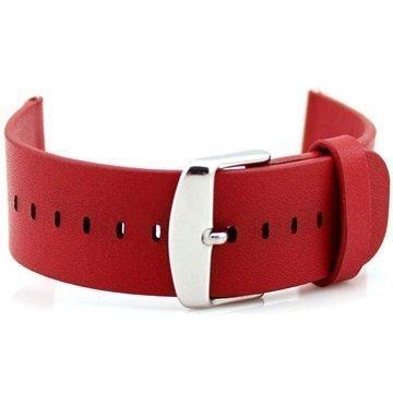 Apple Watch Nahkainen Ranneke 42mm Punainen