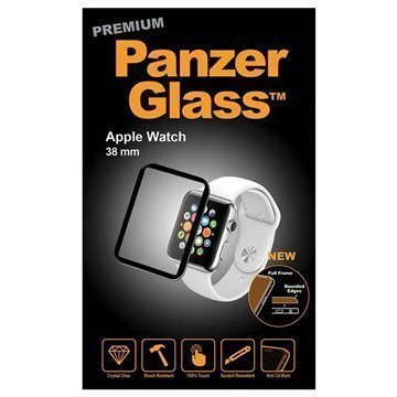 Apple Watch PanzerGlass Premium Full Frame Näytönsuoja 38 mm Musta