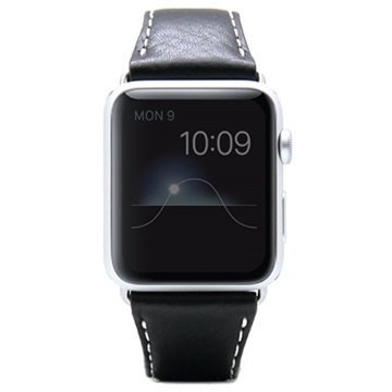 Apple Watch SLG Design D6 Minerva Rannehihna 38mm Musta