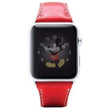 Apple Watch SLG Design D6 Minerva Rannehihna 38mm Punainen