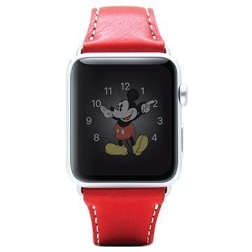 Apple Watch SLG Design D6 Minerva Rannehihna 42mm Punainen