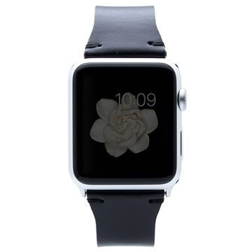 Apple Watch SLG Design D7 Buttero Rannehihna 38mm Musta