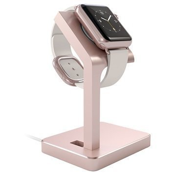 Apple Watch Satechi Aluminum Charging Stand Rose Gold
